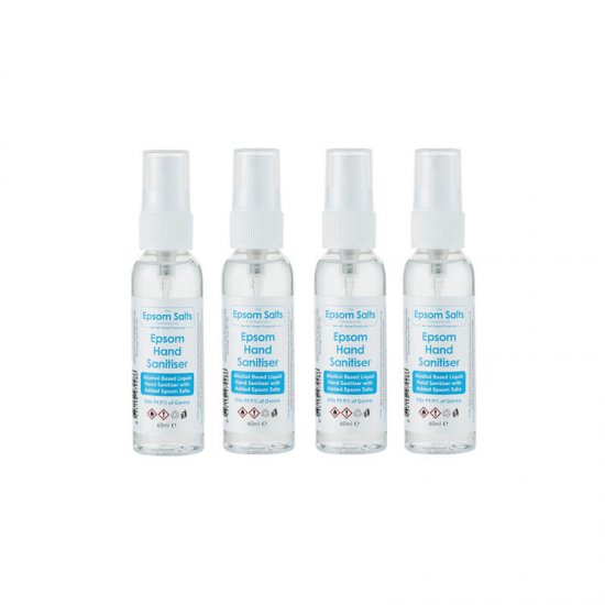 Epsom Hand Sanitiser 60ml x 4