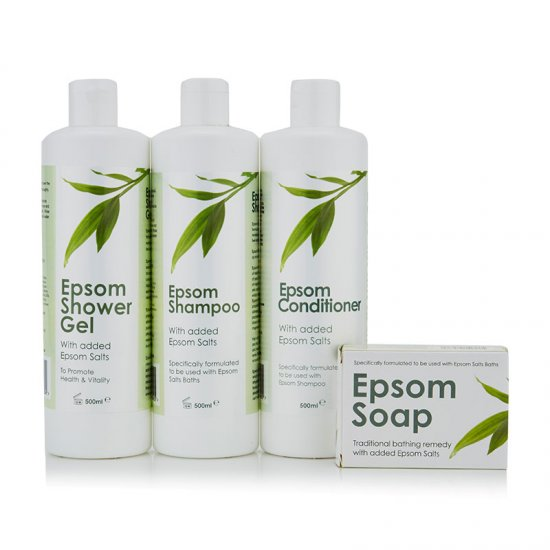 Epsom Shampoo, Soap, Shower Gel & Conditioner